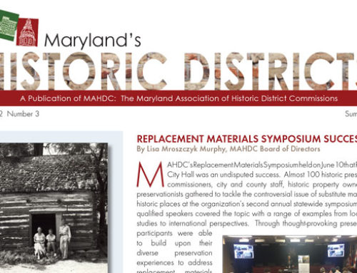 Maryland's Historic Districts – Summer 2017