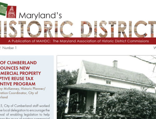 Maryland's Historic Districts – Winter 2017