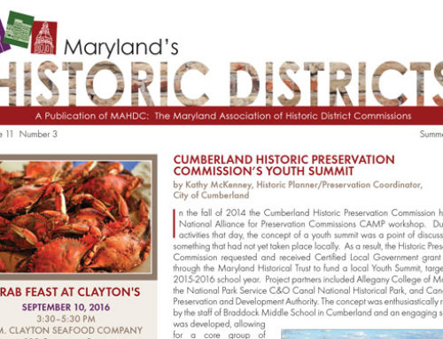 Maryland's Historic Districts – Summer 2016 Edition