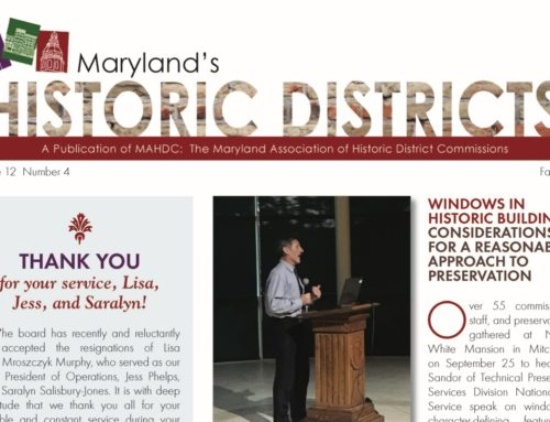Maryland's Historic Districts – Fall 2017